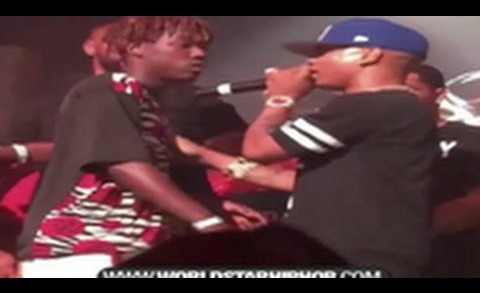 Wild: Dude Runs Up On Plies & Body Slams Him Into The Crowd! Video